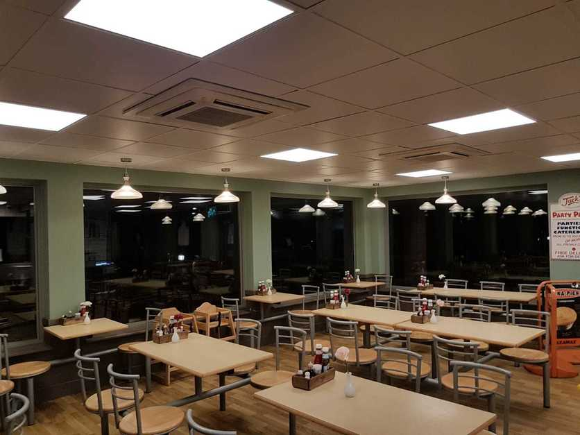 Replacing fluorescent lights with new LED ceiling panel lights